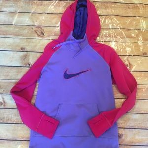 Nike Purple and Pink Therma Fit Hoodie